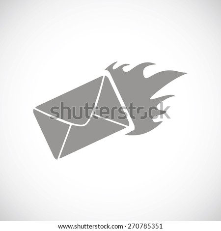 Hot letter web black icon on a white background