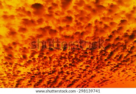 Hot magma. Smoke and fire. Abstract danger background. - stock photo