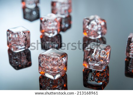 Hot melting ice - stock photo
