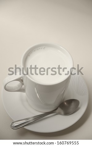 Hot milk cup for good healthy - stock photo