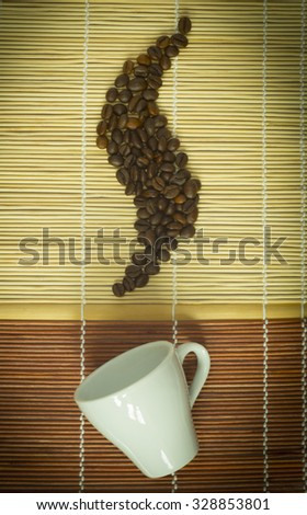 Hot morning coffee - stock photo
