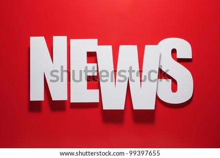 hot news - stock photo