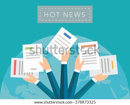 Hot news background - stock photo