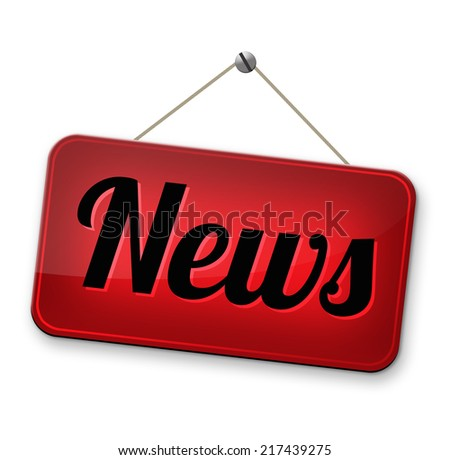 hot news breaking latest article or press release on a daily basis - stock photo