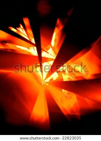 Hot Night - 3D fractal Illustration - stock photo