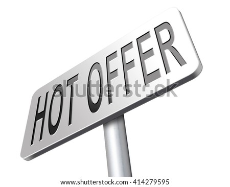 hot offer best sales price - stock photo