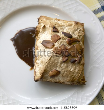 hot pastry with chocolate