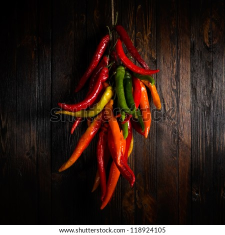 Hot pepper - stock photo