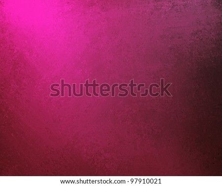 hot pink background with bright neon coloring and black vignette shading on border of frame design with copy space and dramatic lighting in center - stock photo
