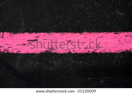 Hot Pink Chalk on Board - stock photo
