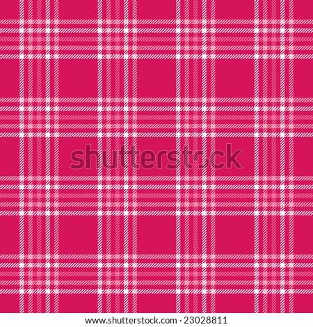 Hot Pink Plaid - stock photo