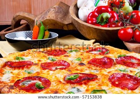 Hot Pizza - stock photo