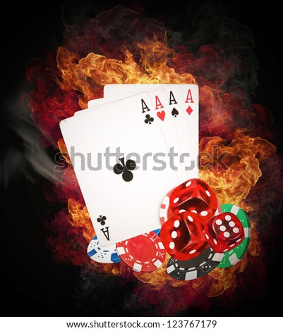 Hot poker game concept - stock photo