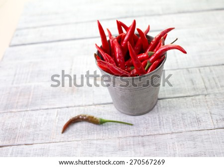 Hot red chili or chilli pepper - stock photo