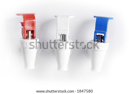 Hot, Room Temperature, and Cold water dispensers - stock photo