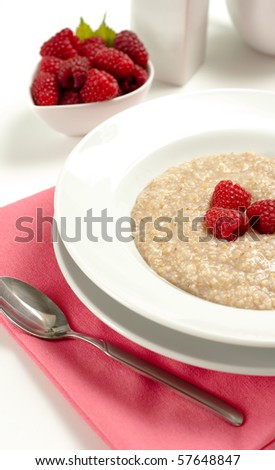 Hot seven grain cereal raspberries stock photo edit now 57648847 hot seven grain cereal with raspberries ccuart Choice Image