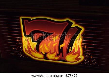 hot sevens - stock photo