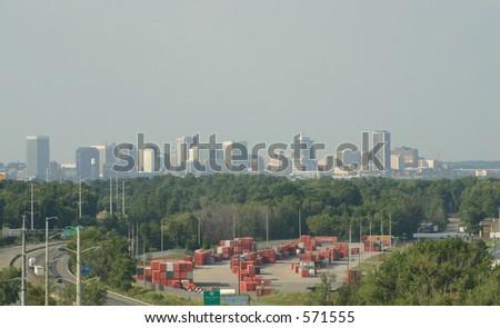 Hot Smoggy Richmond - stock photo