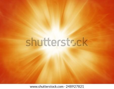 Hot solar burst background - stock photo