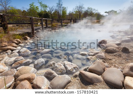 Hot spring - stock photo