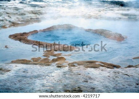 hot spring in Iceland - stock photo