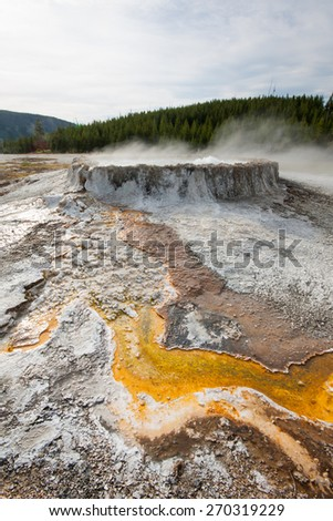 Hot spring in Yellowstone National Park, Wyoming, US
