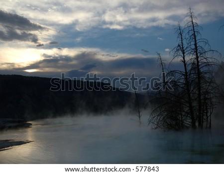 Hot Spring Sunrise - stock photo