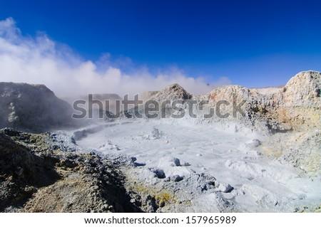 Hot Springs in Bolivia - stock photo