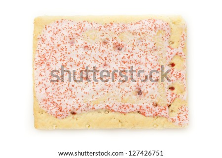 Hot Strawberry Toaster Pastry with frosting and sprinkles