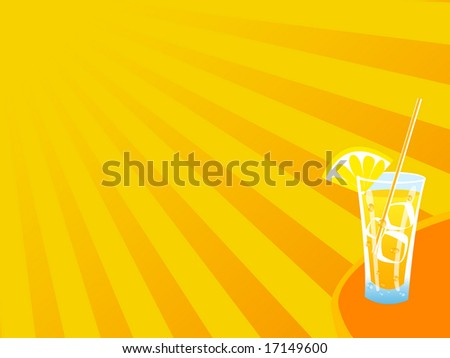 hot summer drink background - stock photo