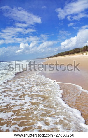 Hot summer sandy beach and coastline perspective