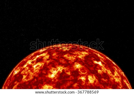 hot sun on the universe with star and cosmos