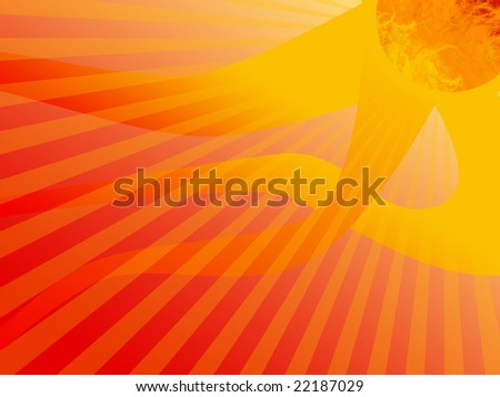 Hot Sun Stripes Background