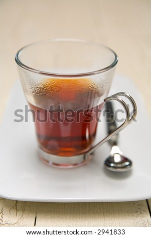 Hot Tea brewing, this can be an herbal tea or black tea