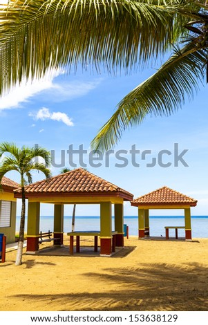 Hot Tropical Beach With Blue Sky