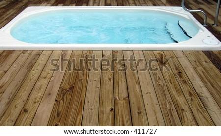 Hot tub - stock photo