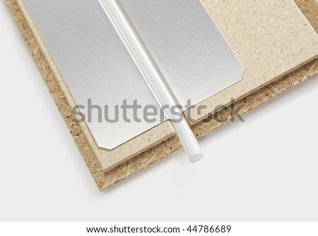 Hot Water Underfloor Heating System Consisting Of Particle Board, Metal  Sheet And Plastic Tubing