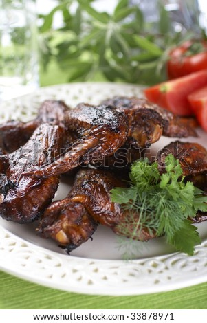 HOT WINGS - stock photo