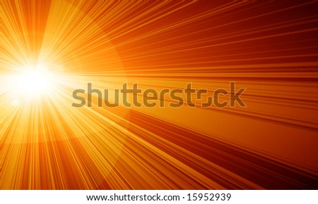 hot yellow summer sun on a red background