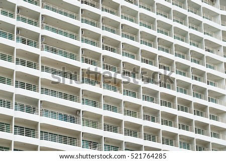 Hotel apartment balcony texture pattern