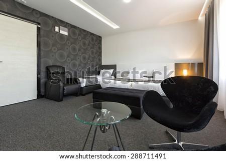Hotel apartment interior - stock photo