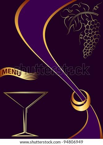 Hotel bar Menu Design Template - stock photo