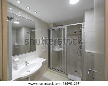 Hotel bathroom - stock photo