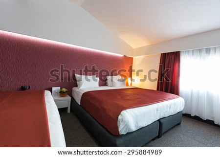 Hotel bedroom interior
