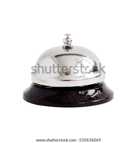 Hotel bell service isolated on white background