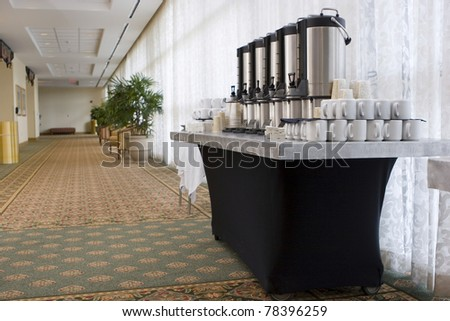 Hotel convention center coffee break - stock photo
