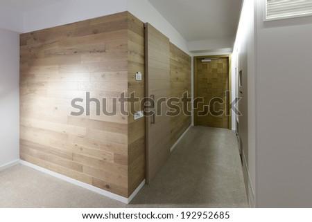 Hotel corridor interior  - stock photo