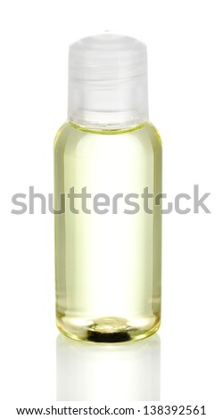 Hotel cosmetic bottle isolated on white