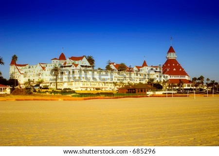 Hotel Del Coronado Coronado San Diego California, USA (exclusive at shutterstock) - stock photo