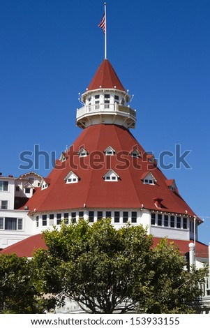 Hotel Del Coronado on Coronado Island in San Diego, California, USA - stock photo